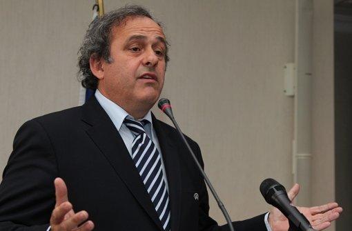 """Uefa-Präsident Michel Platini: """"Wir sind keine politische Institution."""" Foto: AP"""