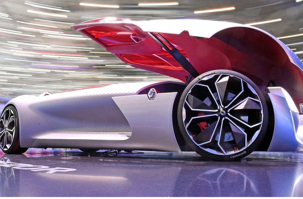 Auf dem Genfer Autosalon präsentiert Renault ein Modell der Zukunft: der Renault Trezor. Foto: dpa