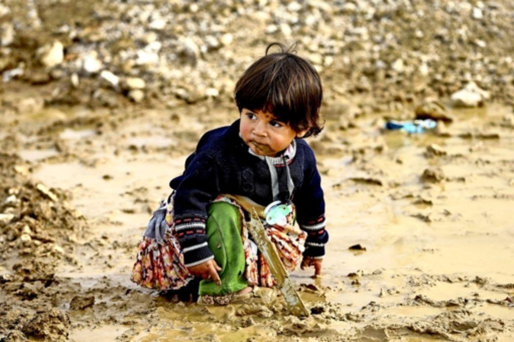 Die Krise in Syrien ist Ursprung der größten Flüchtlingsbewegung unserer Zeit. Dieses syrische Mädchen ist mit seiner Familie in den Libanon geflohen. Foto: AP