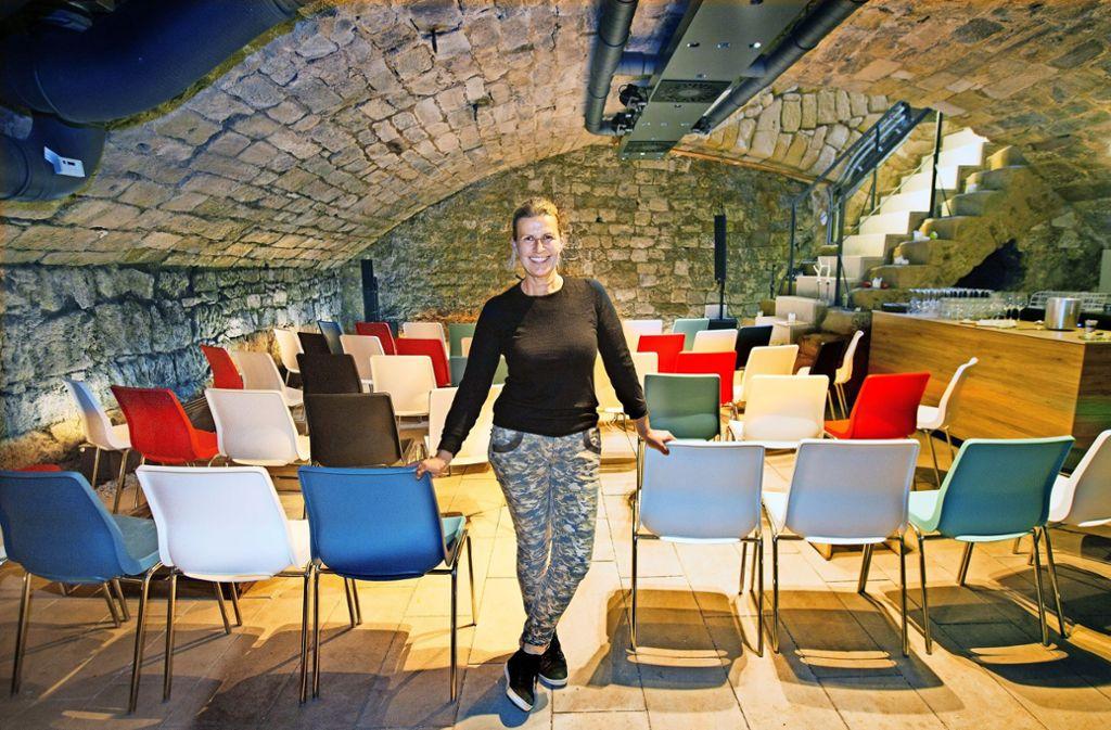 Unter ihrem  Lokal bietet Kathrin Entenmann jetzt auch Kultur an, Foto: Horst Rudel