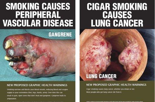 Zigarettenschachteln werden oliv