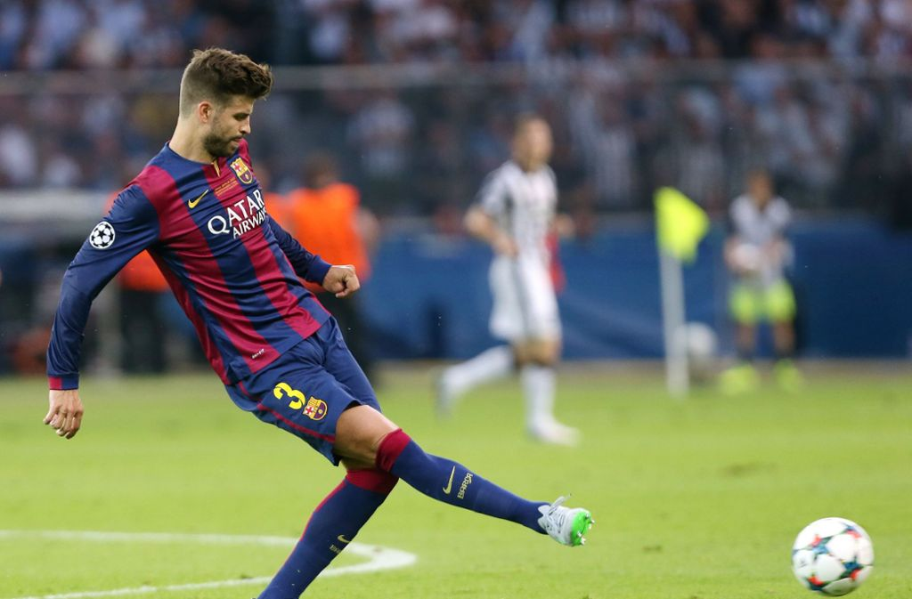 Gerard Piqué vom FC Barcelona muss rund 2,1 Millionen Euro Steuern nachzahlen Foto: Pressefoto Baumann
