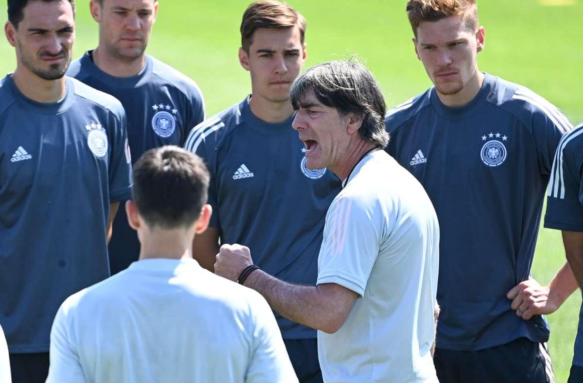 Joachim Löw nimmt seine Spieler in die Pflicht. Foto: dpa/Federico Gambarini