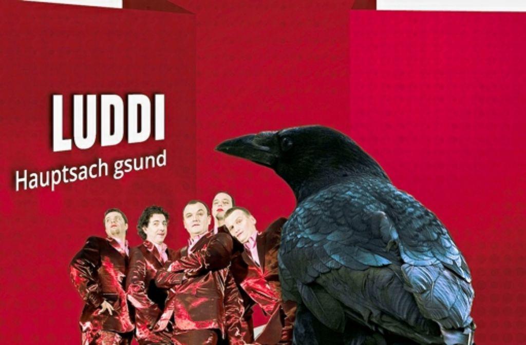"""Das Cover der neuen CD zeigt """"Luddi"""" im rotglänzenden Anzug. Foto: Siebold"""