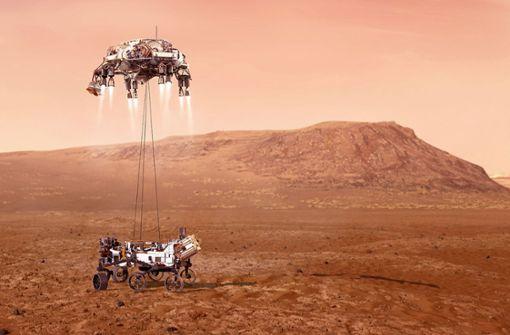 Erster Hubschrauber-Flug auf einem anderen Planeten