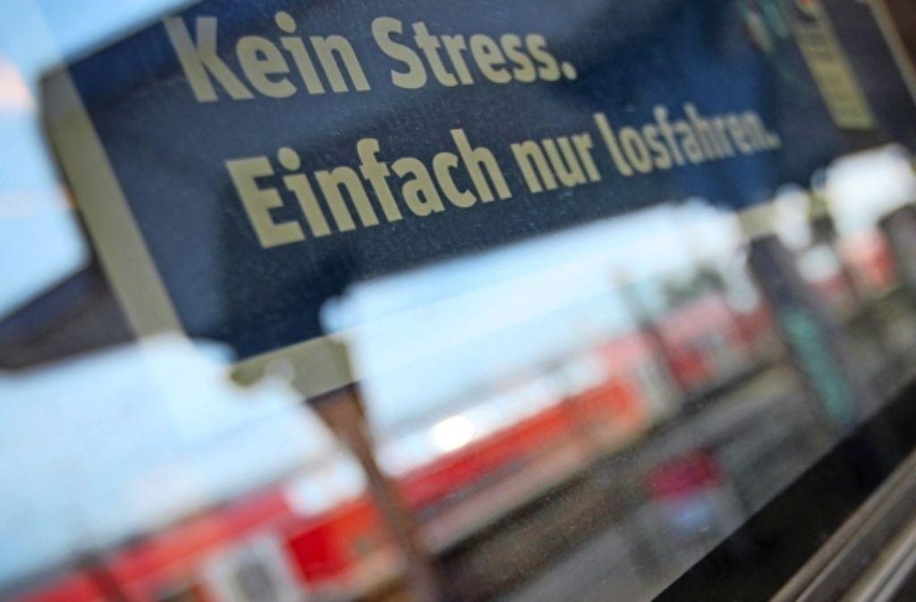 Kein Stress. Einfach nur losfahren - wenn es so einfach wäre. Die Lokführer streiken. Foto: dpa