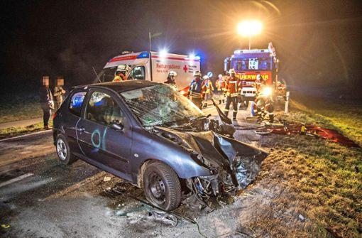 Frontalcrash: Zwei Schwerverletzte