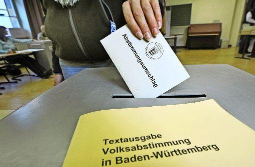Direkte Demokratie – im Südwesten ist das noch keine besonders geübte   Praxis. Foto: AFP