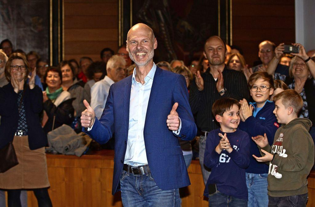 Bei seiner Wahl am 1. Dezember ahnte Pascal Bader noch nicht, was auf ihn zukommen würde. Foto: Horst Rudel