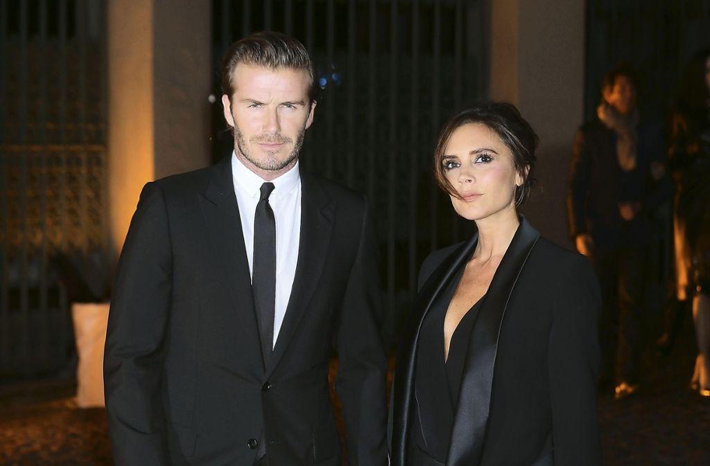 2011 feierten sie mit Prinz William und Kate Middleton: David Beckham und seine Frau Victoria. Der Ex-Fußballer ist auch ein Freund von Prinz Harry. Foto: Getty Images Europe
