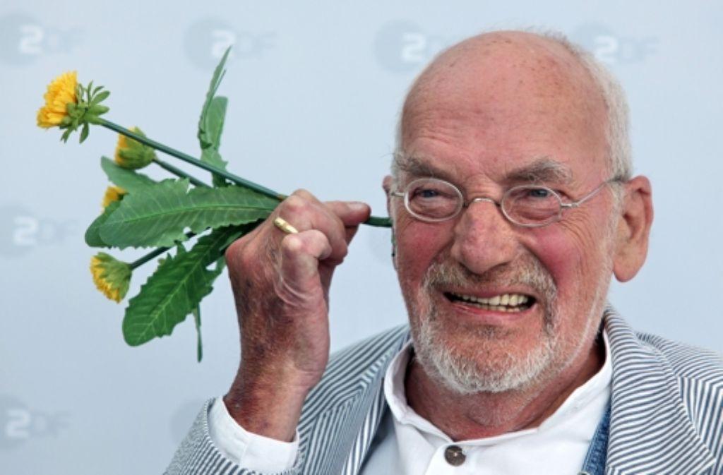 """Peter Lustig moderierte die Sendung """"Löwenzahn"""". Foto: dpa"""