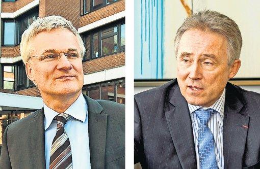 Sie gehen in Zukunft getrennte Wege: der Ludwigsburger Landrat Rainer Haas (rechts) und sein bisheriger Stellvertreter Utz Remlinger. Foto: