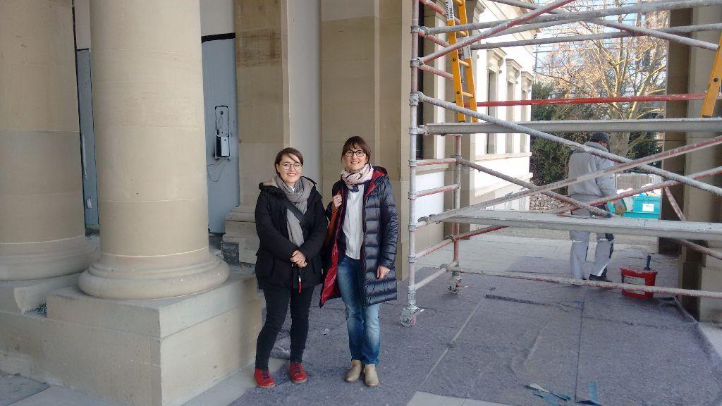 Sammeln Stadtgeschichten: Vesna Babić und Christine Eiche. Foto: Björn Springorum