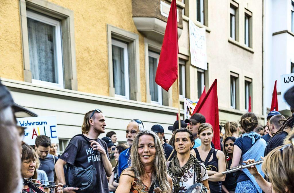 Demo gegen die Räumung Foto: Lg/Rettig