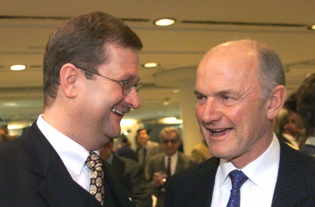 Der ehemalige Porsche-Chef Wendelin Wiedeking (links) und VW-Patriarch Ferdinand Piëch: Beim Kampf um Volkswagen war Schluss mit Lustig zwischen den beiden Alphatieren. Foto: AP