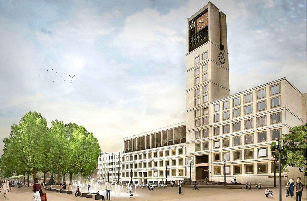 So soll der Stuttgarter Marktplatz künftig aussehen. Foto: Gauder und  Gehring Landschaftsarchitekten