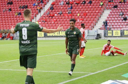 Die VfB-Profis blicken schon auf Bayer Leverkusen