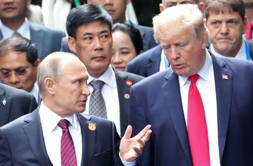 Trump und Putin sehen keine militärische Lösung für Konflikt