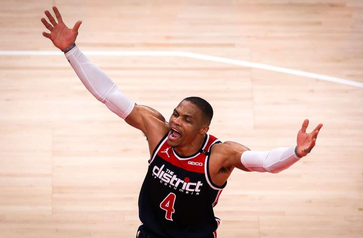 Russell Westbrook schreibt NBA-Geschichte. Foto: AFP/Casey Sykes