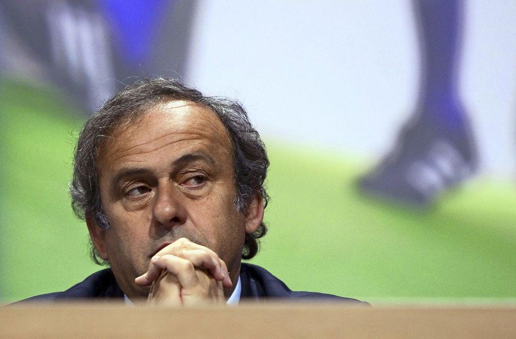 Im Zwielicht: der ehemalige Uefa-Chef Michel Platini Foto: AFP