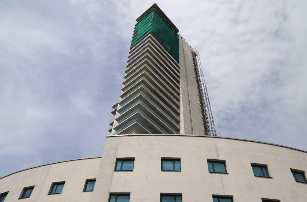 Die Fassadengestaltung am Schwabenlandtower soll dem KfW-Standart 55 gerecht werden. Foto: Patricia Sigerist