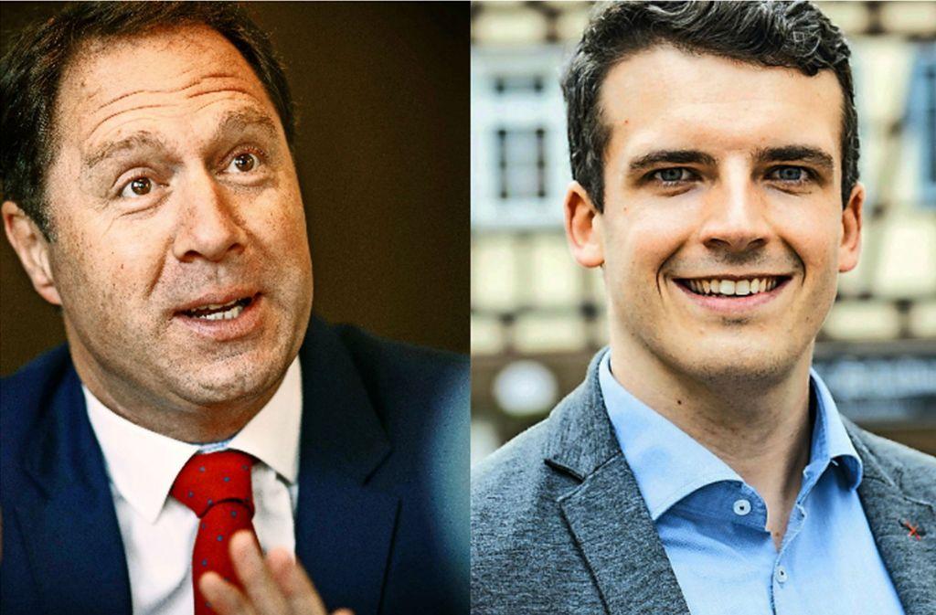 Hartmut Holzwarth (links) und Raimon Ahrens sind mit ihren Wahlergebnissen zufrieden. Foto: Stoppel/privat