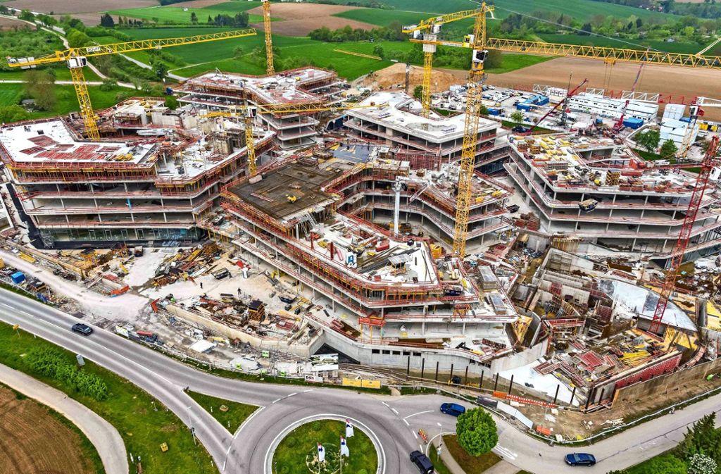 Die Lidl-Baustelle in Bad Wimpfen aus der Vogelperspektive. Foto: obs