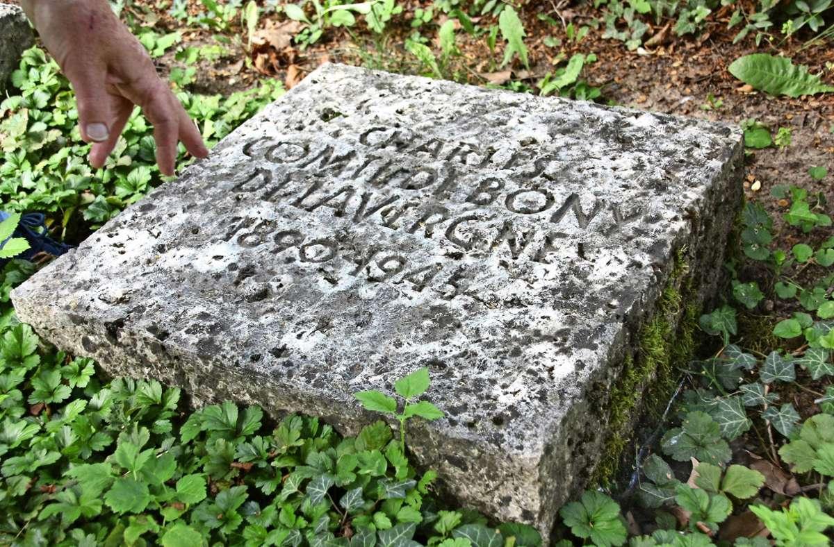 Die wenigsten Echterdinger wissen, warum auf ihrem Friedhof auch Grabsteine mit  französischen Namen zu finden sind. Foto: Natalie Kanter