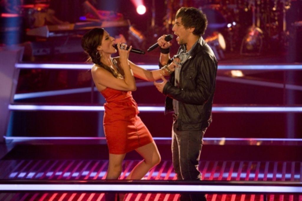 Laura Martin und Max Giesinger singen mit- statt gegen Foto: SAT.1/ProSieben