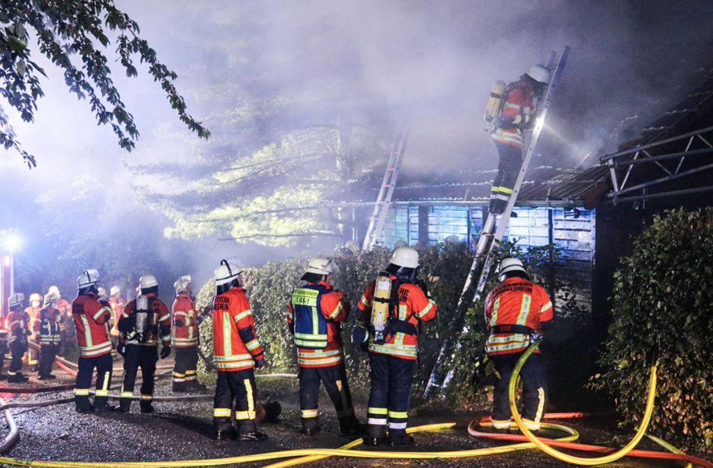 Die Feuerwehr wurde gegen 23 Uhr zum Brand gerufen. Foto: 7aktuell.de/Kevin Müller/7aktuell.de   Kevin Müller