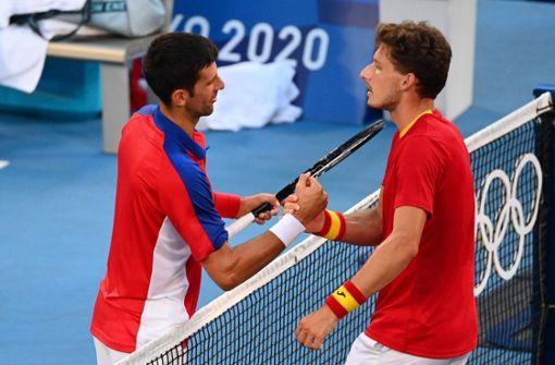 Djokovic verliert Spiel um Bronze gegen Carreno-Busta