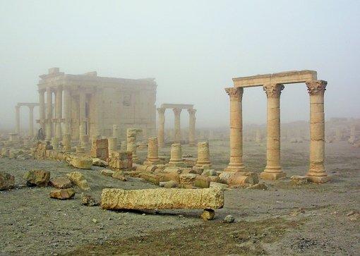 Von Zerstörung bedroht: der berühmte Baalshamin-Tempel in der syrischen Oasenstadt Palmyra Foto: DAI Damaskus