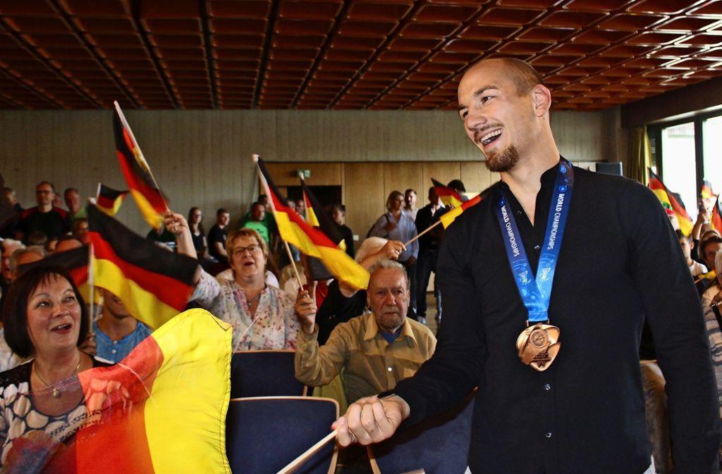 Mit Bronze zurück: Frank Stäbler Foto: jac