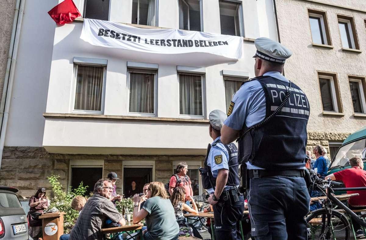 Die Besetzung eines Hauses in Heslach hat ein juristisches Nachspiel. Foto: Lichtgut/Julian Rettig