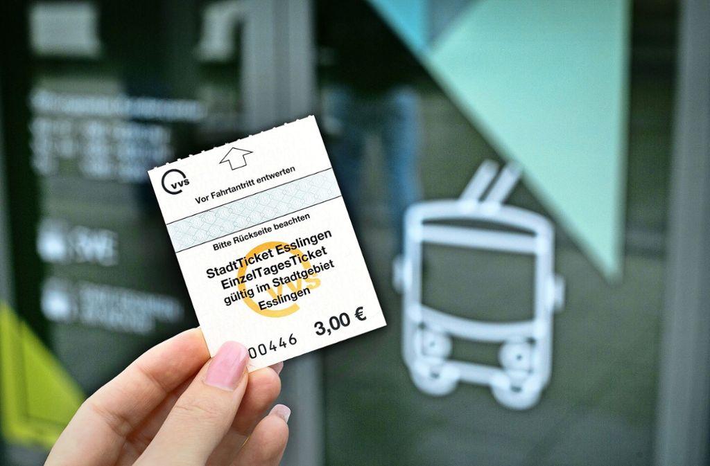 Das Esslinger Stadtticket gilt seit dem 1. April. Foto: Ines Rudel