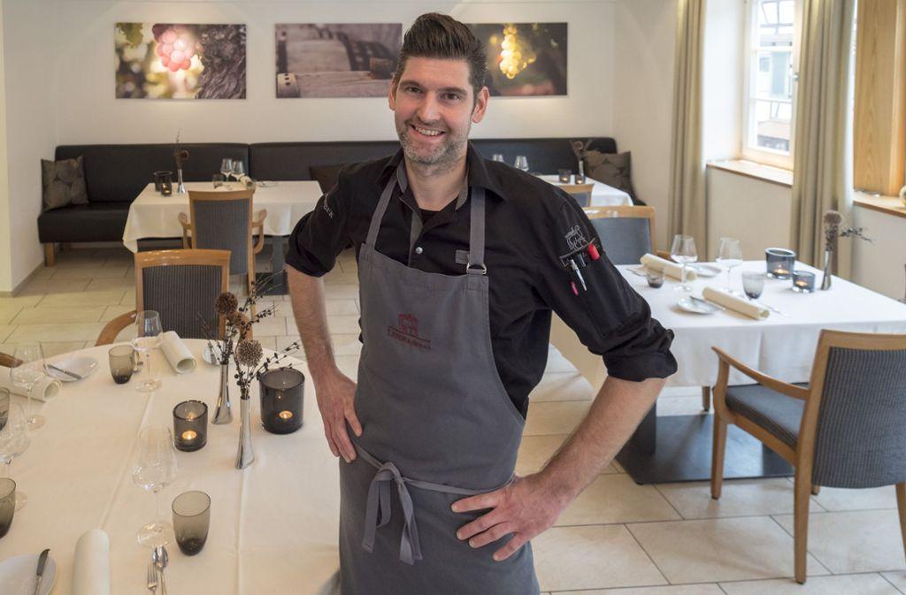 Steffen Ruggaber ist der Küchenchef im Restaurant Lamm in Rosswag. Foto: factum/Weise