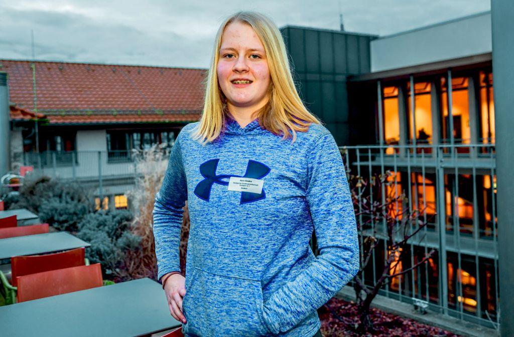 Die 13-jährige Nora Radke kennt die entscheidenden Disziplinen beim Rudern: Technik, Kraft und Ausdauer Foto: Lichtgut/Julian Rettig