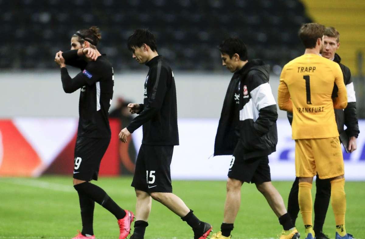 Eintracht Frankfurt verlor trotz Großchance. Foto: AP/Michael Probst
