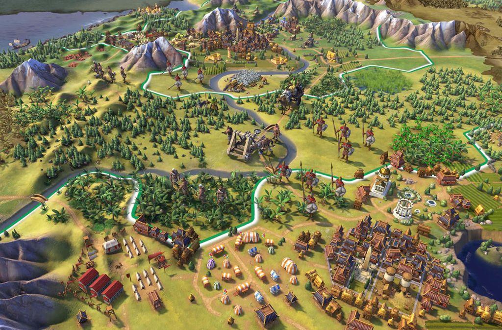 Die Welt als Baukasten: Der Klassiker Civilization fesselt auch in der sechsten Version. Foto: Fireaxis Games