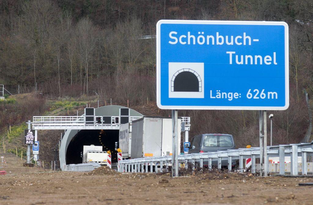 Der Schönbuchtunnel musste zeitweise gesperrt werden. Foto: Archiv/factum/Granville