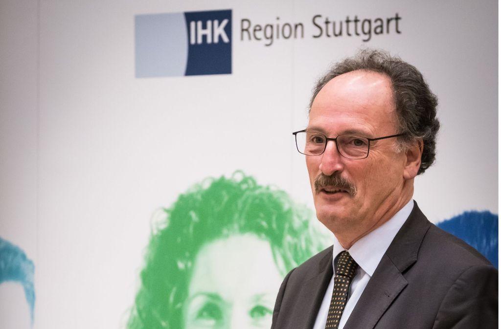 Andreas Richter ist seit 1998 Hauptgeschäftsführer der IHK Region Stuttgart. Am 20. April soll sein Nachfolger gewählt werden. Foto: Lichtgut/Achim Zweygarth