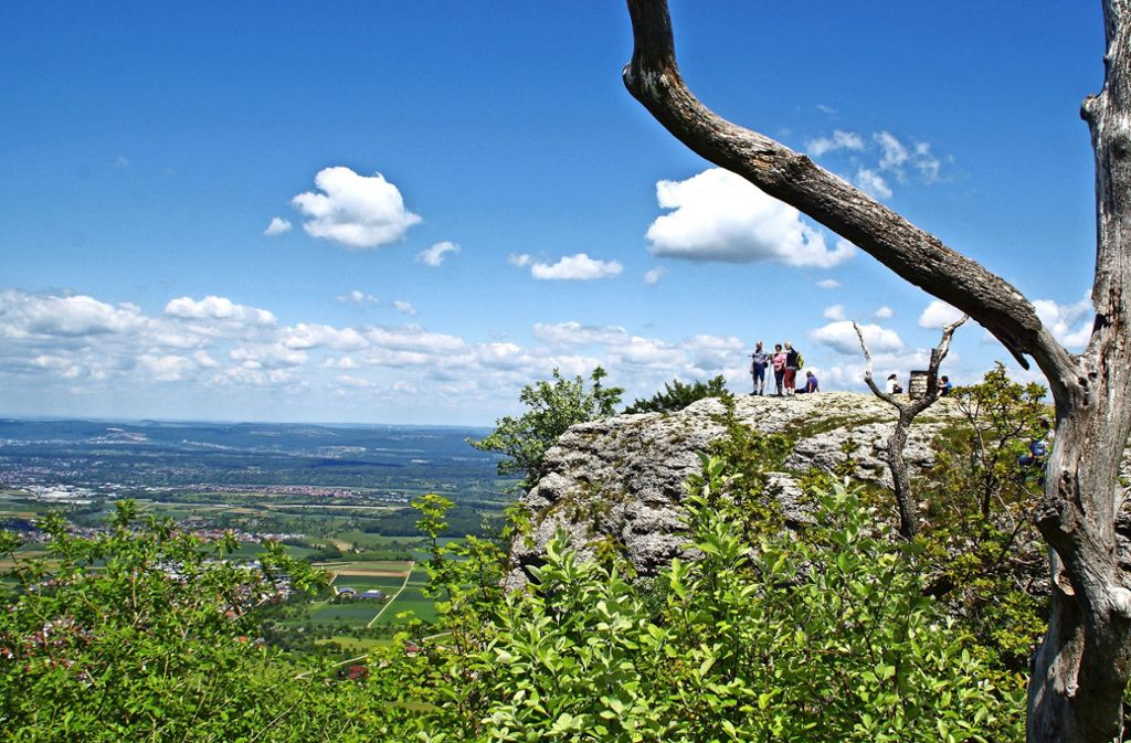 Der Breitenstein lockt alljährlich viele Wanderer an. Foto: Schwäbische Landpartie