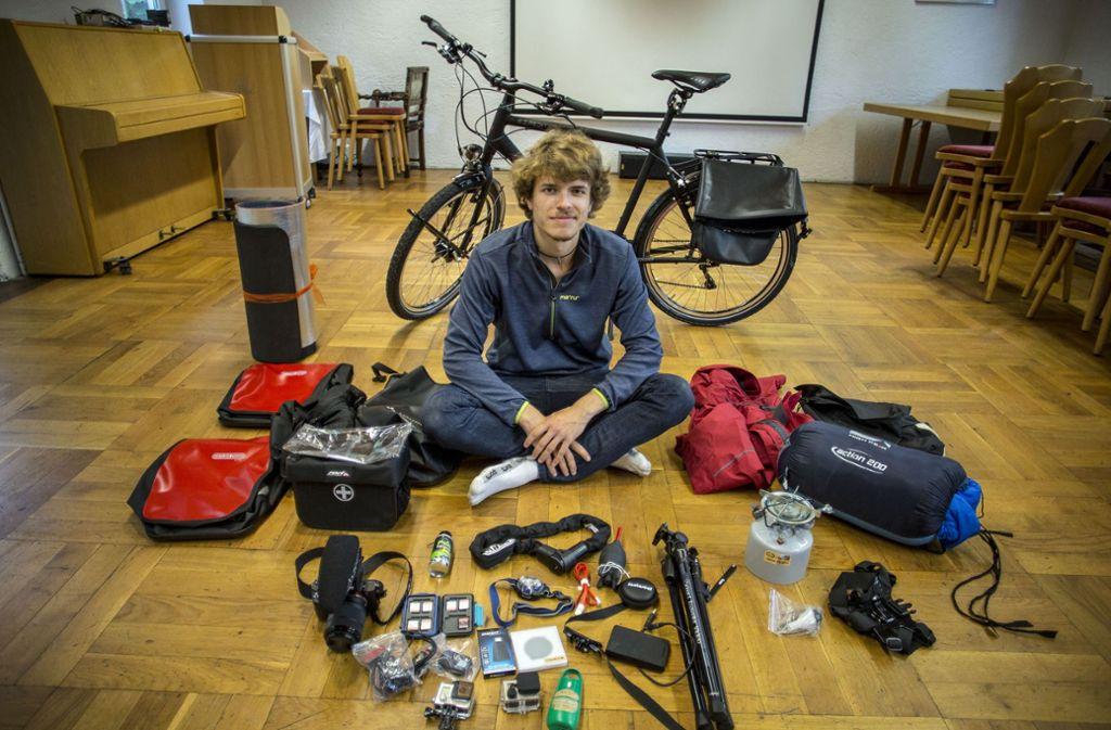 Philipp Winnige will Südafrika mit dem Fahrrad bereisen und von Kolumbien bis nach Feuerland radeln. Foto: Lichtgut/Leif Piechowski