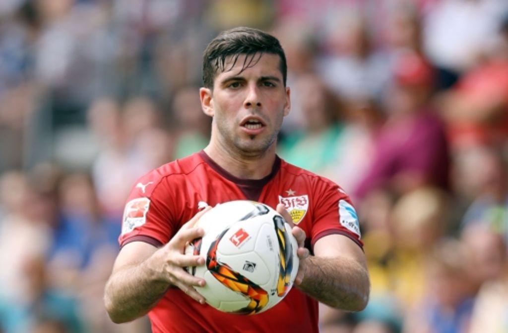 Linksverteidiger Emiliano Insúa soll beim VfB die Abwehr sattelfest machen. Foto: Baumann