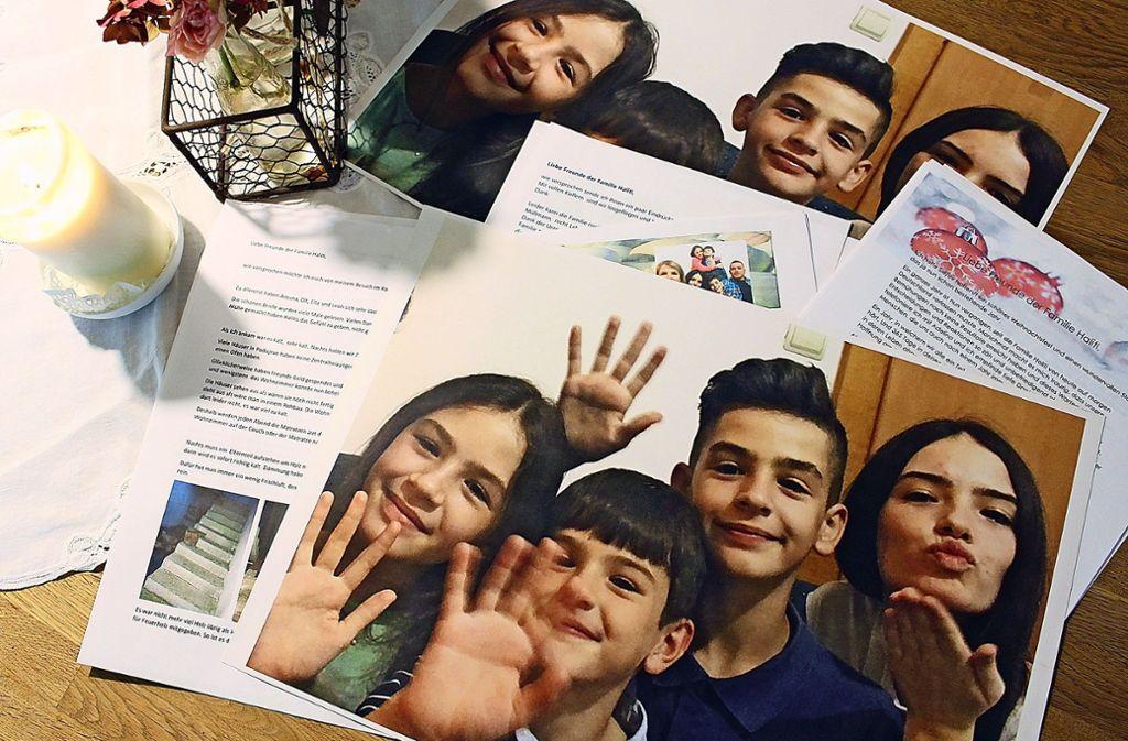 Die beiden Familien tauschen zwischen Heumaden und dem Kosovo rege Bilderbotschaften aus. Foto: Caroline Holowiecki