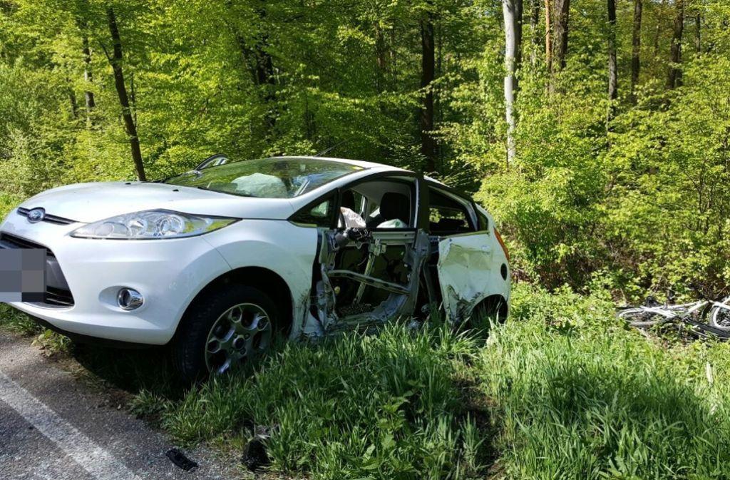 Schwerer Unfall auf der Filderauffahrt in Stuttgart. Foto: SDMG