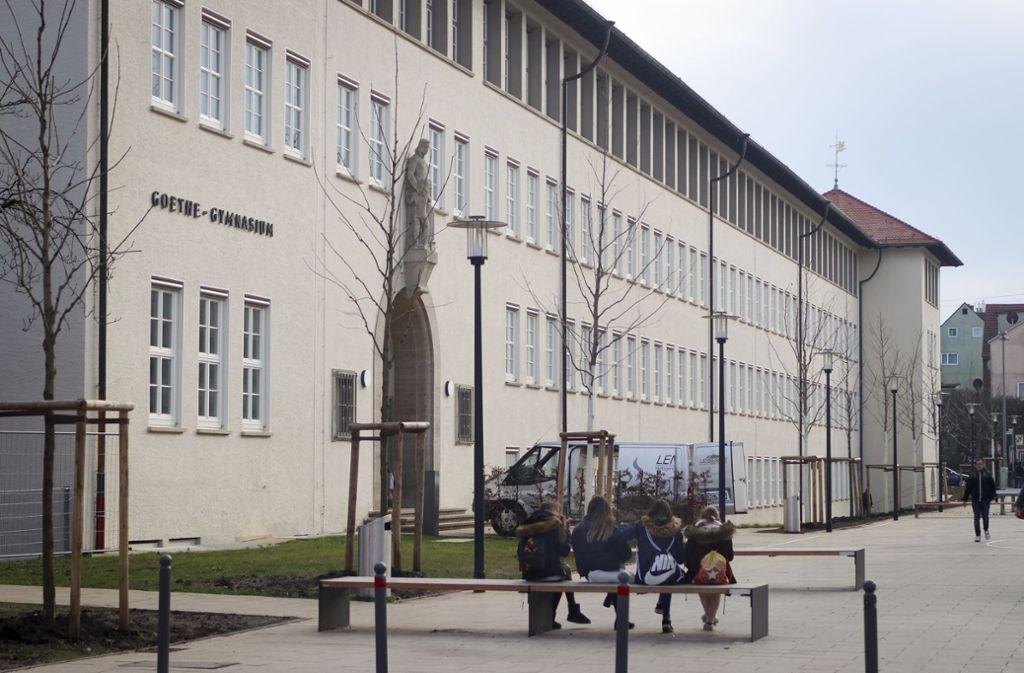 Wegen eines Fehlalarmes ist das Goethe-Gymnasium in Ludwigsburg evakuiert worden. Foto: factum/Granville