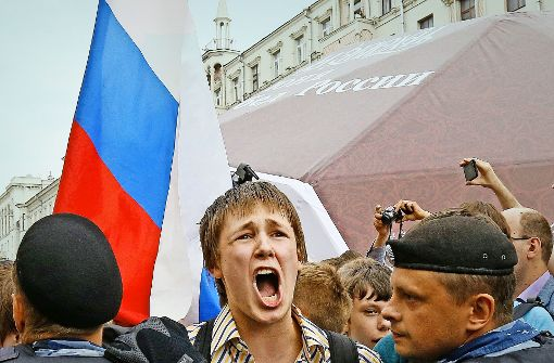 Der Protest gegen Putin wird im Keim erstickt
