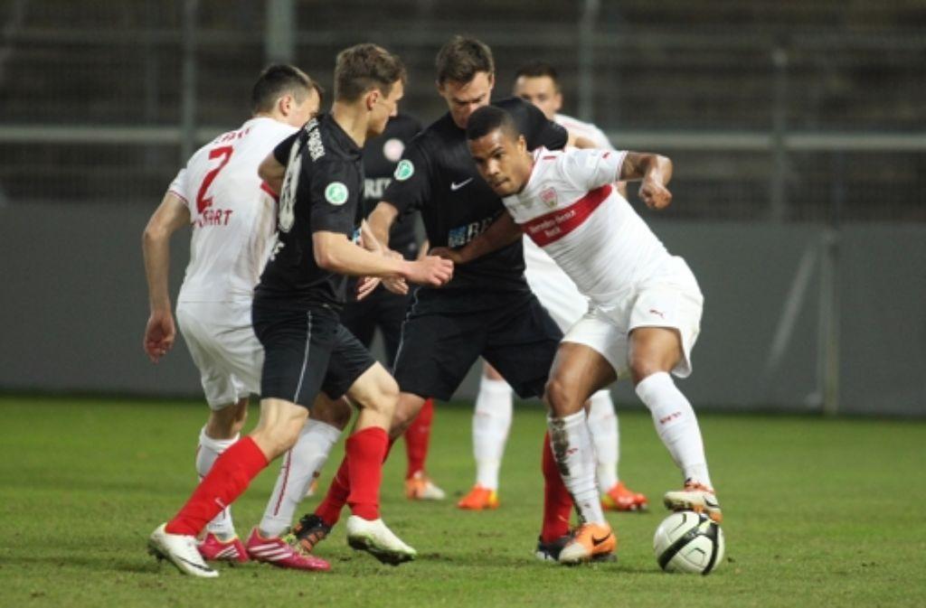 Beim VfB II hat Daniel Didavi (rechts) Spielpraxis gesammelt. Foto: Baumann