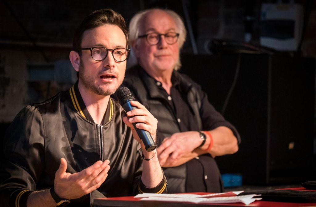 Wie geht es weiter im Theaterhaus? Das fragen sich auch Werner Schretzmeier (rechts) und Eric Gauthier Foto: